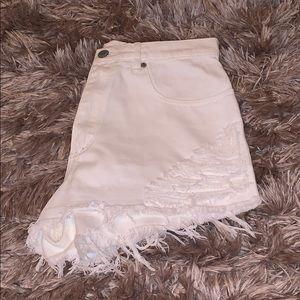 3/$35 GARAGE | High Waisted White Denim Shorts